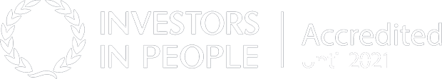 Investors in People. Accredited until 2021.